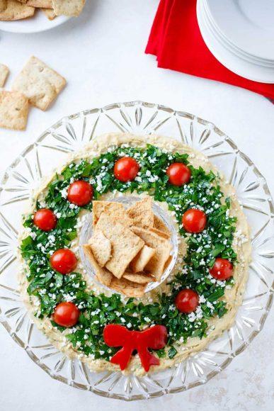 Хумус със зелени подправки